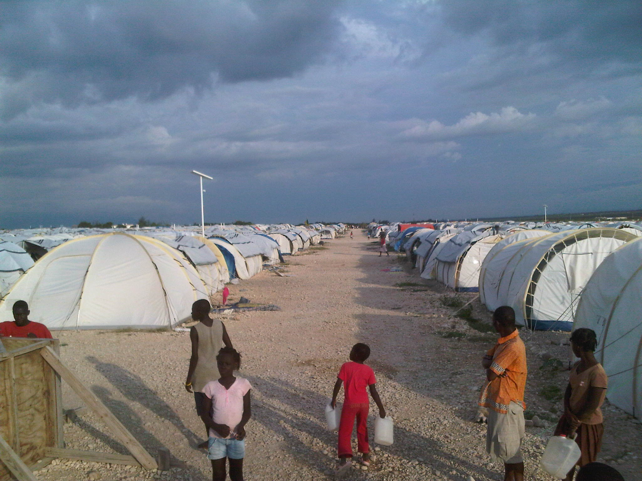 One of many tents Cities in Haiti